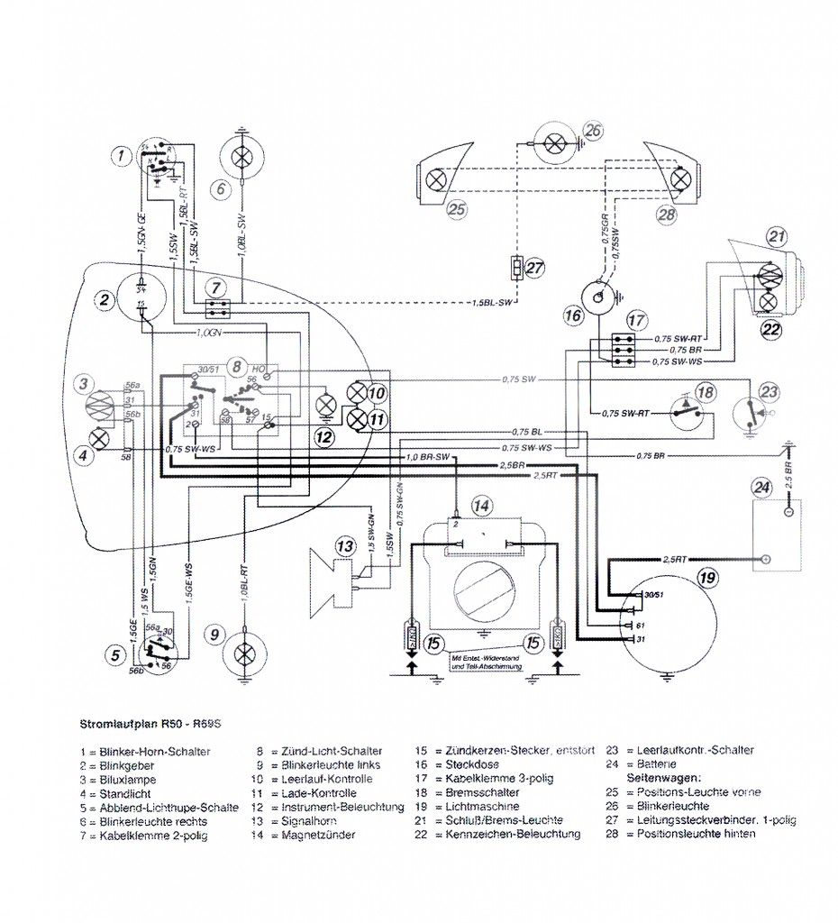 Wiring Diagram R50 - R69s 6v